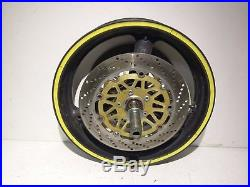 1997 Suzuki Bandit 1200S Front Wheel with Brake Rotors Axle and Spacer
