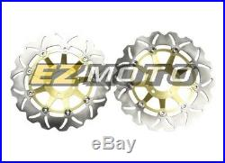 1 Pair Wave Brake Disc Rotor for SUZUKI GS 400 89+ BANDIT 1200 96-03 04 05 FRONT