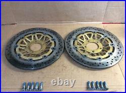 2001 Suzuki GSF 1200 S Bandit Front Brake Rotors Discs Good! GSF1200 600