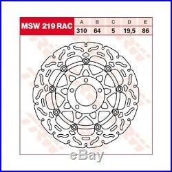 473322 Lucas TRW Bremsscheibe vorne MSW 219 RAC SUZUKI GSF 1200 Bandit WVA9 01-0