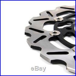 Black Front Brake Disc Rotor B-King Hayabusa DL650 GSR750 Bandit 650 1200 1250
