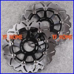 Black Front Brake Discs Rotor For Suzuki GSF BANDIT 250 & 400 89-96 &1200 96-05
