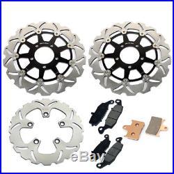 Brake Discs Disks Pads GSF 650 Bandit 05 06 K5 K6 Front Rear Rotors Suzuki Set
