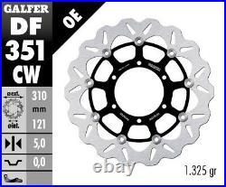 Brake disk Galfer Wave floating DF351CW 310 x 5mm Set 2x front Motorcycle