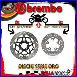 Brdisc-4517 Kit Brake Discs Brembo Suzuki Gsf Bandit S 2004- 1200cc Front+rear