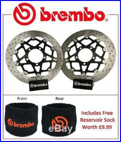 Brembo Front Brake Discs Pair Suzuki GSF1250 / S Bandit 07-15 + Res Sock