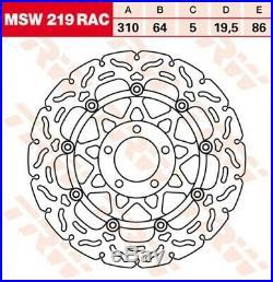 Bremsscheibe Suzuki GSF1200 /N /S Bandit GV75A Bj. 1998 TRW Lucas MSW219RAC