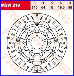 Bremsscheibe Suzuki GSF1200 /N /S Bandit GV75A Bj. 2000 TRW Lucas MSW219