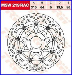 Bremsscheibe Suzuki GSF1200 /N /S Bandit JS1A9 WVA9 Bj. 2002 TRW Lucas MSW219RAC