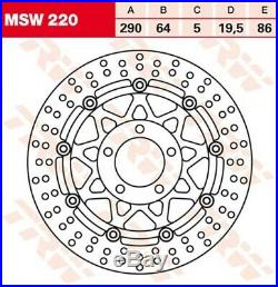 Bremsscheibe Suzuki GSF600 Bandit /S GN77B Bj. 1999 TRW Lucas MSW220