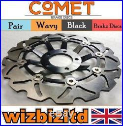 COMET Pair Front Brake Discs Suzuki GSF 600 K3/K4 (Faired Bandit) 00-04 W903BK