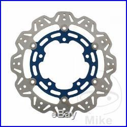 EBC Front Brake Disc Vee Rotor Blue Suzuki GSR 750 A ABS 2016-2017