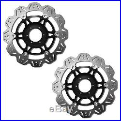 EBC Vee Rotor Black Front Brake Discs For Suzuki 2001 GSF1200S Bandit K1