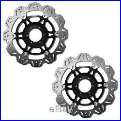 EBC Vee Rotor Black Front Brake Discs For Suzuki 2002 GSF600N Bandit K2