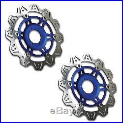 EBC Vee Rotor Blue Front Brake Discs For Suzuki 2004 GSF600N Bandit K4 VR3003BLU