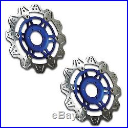 EBC Vee Rotor Blue Front Brake Discs For Suzuki 2008 GSF1250S Bandit K8