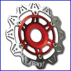 EBC Vee Rotor Red Front Brake Discs For Suzuki 1996 GSF400 Bandit GK7AA