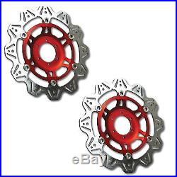 EBC Vee Rotor Red Front Brake Discs For Suzuki 1997 GSF600N Bandit VR3003RED