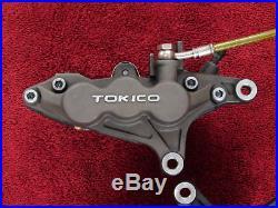 FRONT BRAKE CALIPER SET 01-05 Bandit 1200 90mm TOKICO 6-PISTON Triumph upgrade