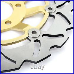 For GSX 600 750 F 1998-2002 GSF 600 Bandit S 00-04 Front Brake Discs Disks Pads