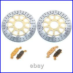 For GSX 750 F 04-06 GSF 650 S Bandit 05-06 SV 650 S 03-15 Front Brake Discs Pads