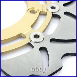 For SUZUKI GSF 650 1200 S Bandit 08 09 10 11 12 Gold Front Rear Brake Discs Pads