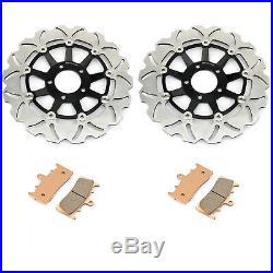 For Suzuki GSF 1200 Bandit GSF1200 S 01 02 03 04 05 Front Brake Discs Disks Pads