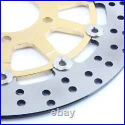 For Suzuki GSF 650 Bandit / S SV650S GSX600F GSX750F Gold Front Brake Discs Pads