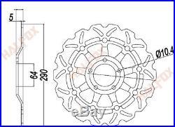Front Brake Disc Rotor for Suzuki Bandit GSF600 00-04 GSX 600 89-02 SV650 99-02