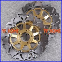 Front Brake Disc Rotors Fit Suzuki GSF BANDIT 250 400 1200 99-03 GSX 1200 Gold