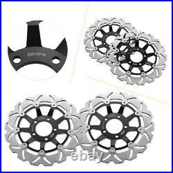 Front Brake Disc Rotors Motor Fit Suzuki SV650 1999-02 GSF 600N BANDIT 600 95-04