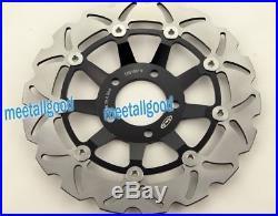 Front Brake Disc Rotors for SUZUKI GSF600 Bandit 2000-04 SV 650 1999-2002 Black