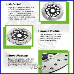Front Brake Discs Disks for Suzuki GSF 650 Bandit S 04-06 SK5 SK6 SV650S 03-12