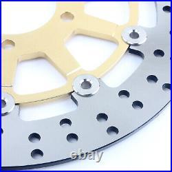 Front Brake Discs + Pads for Suzuki Bandit GSF600 00-04 SV650 S GSX 750 F 99-02