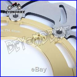 Front Brake Discs Rotors 4 DL 650 V-Strom ABS 07-16 GSX650FA 08-14 GSR 600 06-10