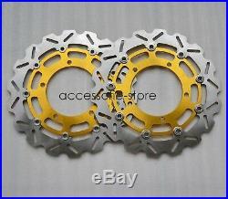 Front Brake Discs Rotors For Suzuki GSR400 DL650 V-STROM GSR750 hayabusa bking