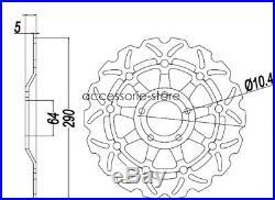 Front Brake Discs Rotors for Suzuki Bandit GSF600 00-04 GSX600 89-02 SV650 99-02