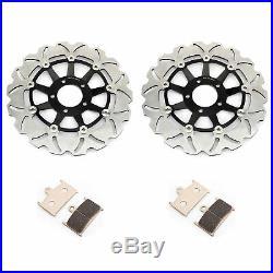 Front Brake Disks Discs Pads For Suzuki GSF 1200 Bandit / S RF 900 R 96 97 98 99