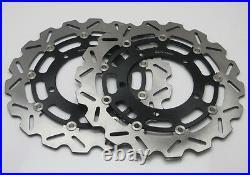 Front Brake Rotors Pair Discs For SUZUKI BANDIT GSF1250 GSX1250 Traveller