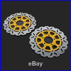 Front Floating Brake Disc Rotor For Suzuki GSXF600 GSXF750 Bandit GSF650 SV S650