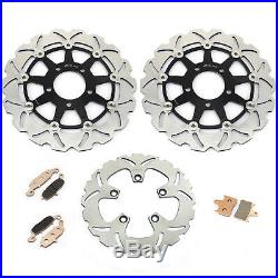 Front Rear Brake Discs Disks Pad For GSF 650 Bandit S 05 06 GSF 650 Bandit K5 K6
