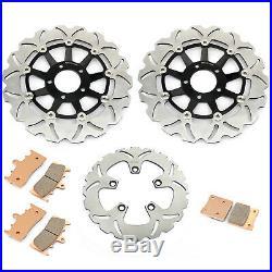 Front Rear Brake Discs Disks Pads Bandit GSF1200 01 02 03 04 05 GSF 1200 S K1-K5