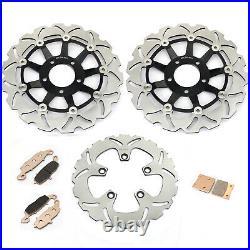 Front Rear Brake Discs Disks Pads Bandit GSF 600 / S SV 650 S GSX 750 F 00 01 02