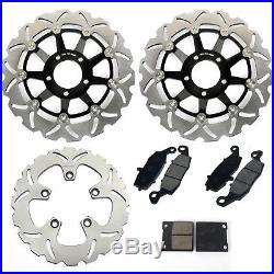 Front Rear Brake Discs Disks Pads GSF600 BANDIT / S K1 K2 K3 K4 SV650S GSX 750 F