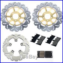 Front Rear Brake Discs Disks Pads for Suzuki GSF BANDIT 1200 / S K1 K2 K3 K4 K5