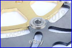 Gold Front Brake Disc Disk For Suzuki GSX F Katana 600 750 GSF 650 SV650 SV650S