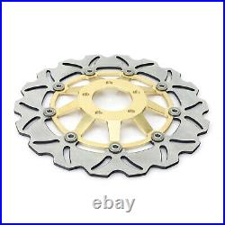 Gold Front Brake Discs Disks Pads For Suzuki GSF 1200 Bandit / S 01 02 03 04 05