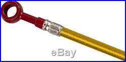 Gold & Red Front S. S. Brake Lines 3 Line Kit GSF600 Bandit GSF600 Bandit S