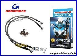 Goodridge For Suzuki GSF1250A BANDIT ABS 07-09 Front SS Braided Brake Lines Hose
