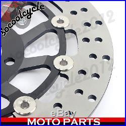 NEW Black Front Brake Discs Rotors For Suzuki SV 650 650S 99 00 01 02 GSX-R400